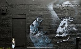 Famous graffiti work on the streets of East London, England Royalty Free Stock Image