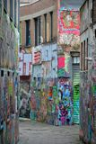 Famous grafitti street in Ghent Royalty Free Stock Image