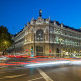 Famous Gran via street in Madrid Stock Photography
