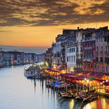 Famous Grand Canal at sunset Royalty Free Stock Photos
