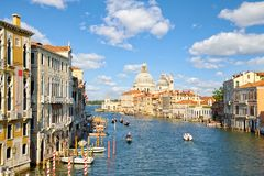 Famous Grand Canal in Venice royalty free stock photos
