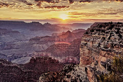 Famous Grand Canyon at sunrise Royalty Free Stock Photo