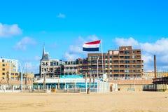 Famous Grand Hotel Amrath Kurhaus and Scheveningen beach panorama, Hague, Netherlands Royalty Free Stock Images