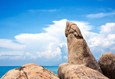 Famous Grandfather rock. Koh Samui, Thailand Royalty Free Stock Photography
