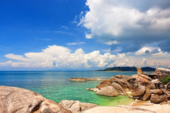 Famous Grandfather rock. Koh Samui, Thailand Royalty Free Stock Image