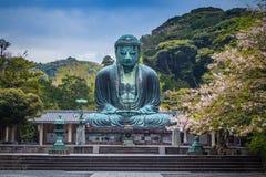 Famous Great Buddha bronze statue in Kamakura, Kotokuin Temple. Stock Images