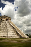 Famous great pyramid of Mayan city Chichen Itza stock images
