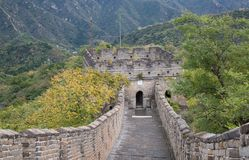 Great Wall. Famous Great Wall of China, section Mutianyu, located nearby Beijing city Stock Image