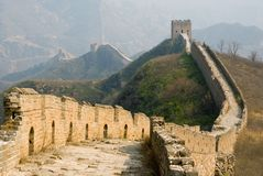 Famous great wall at Simatai near Beijing Royalty Free Stock Images