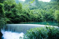 The waterfall in China royalty free stock photos