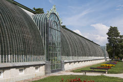 Famous greenhouse in the castle Lednice Royalty Free Stock Image