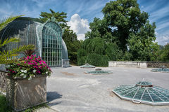 Famous greenhouse in the Lednice castle Stock Images
