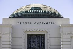 Famous Griffith Observatory in Los Angeles royalty free stock image