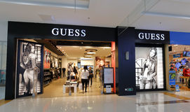 The famous guess clothing shop Royalty Free Stock Photos