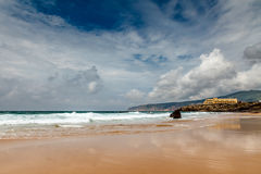 Famous Guincho Beach in Cascais near Lisbon Stock Photography