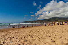 Famous Guincho Portugal Beach Royalty Free Stock Photography