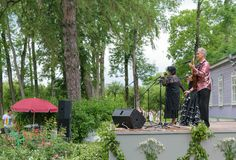 The famous guitarist Sergey Rudnev performed in concerts at the festival at the museum-estate Ivan Turgenev  Stock Image