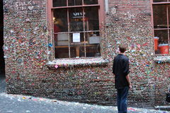 Famous gumwall in Pike Place Stock Images