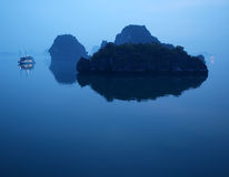 Famous Ha Long bay in Vietnam Royalty Free Stock Photography