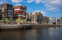 Famous Hafencity nord in the Speicherstadt in Hamburg Stock Photos