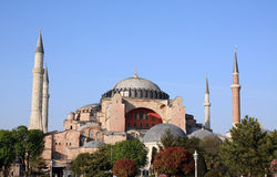 Famous Hagia Sophia church in Istanbul Stock Images