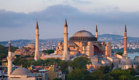 Famous Hagia Sophia in the late evening sun Royalty Free Stock Photo