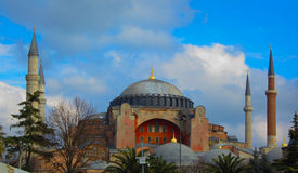 Famous Hagia Sophia mosque. In Istanbul, Turkey Stock Photography