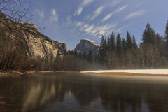 The famous Half Dome and reflection Royalty Free Stock Images