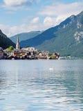 Famous Hallstatt mountain village and Hallstaetter lake, Austrai Stock Photography