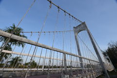 Famous hanging bridge of Nong Prajak Park Royalty Free Stock Image