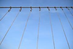 Famous hanging bridge of Nong Prajak Park Stock Image