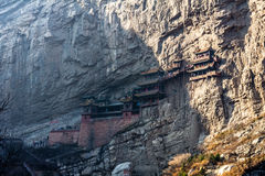 The famous hanging monastery near Datong, Shanxi province, China. Stock Images