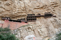 Famous hanging monastery in Shanxi Province near Datong, China, Stock Images