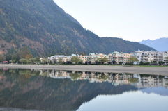 Famous Harrison Hot Springs lake view Stock Images