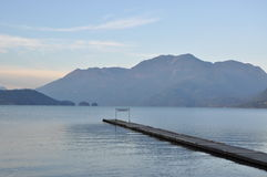 Famous Harrison Hot Springs lake view Royalty Free Stock Photography