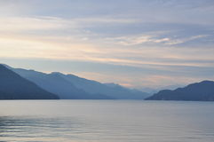Famous Harrison Hot Springs lake view Stock Image