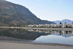 Famous Harrison Hot Springs lake view Royalty Free Stock Images