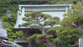 Famous Hase Dera Temple in Kamakura Japan. Travel photography stock video footage