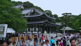 Famous Hase Dera Temple in Kamakura Japan - TOKYO / JAPAN - JUNE 12, 2018. Famous Hase Dera Temple in Kamakura Japan - TOKYO - JUNE 12, 2018 stock footage