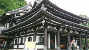 Famous Hase Dera Temple in Kamakura Japan - TOKYO / JAPAN - JUNE 12, 2018. Famous Hase Dera Temple in Kamakura Japan - TOKYO - JUNE 12, 2018 stock video footage