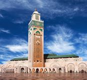Famous Hassan II Mosque in Casablanca, Morocco Royalty Free Stock Image