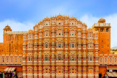 The famous Hawa Mahal or Palace of the Winds.India Royalty Free Stock Images