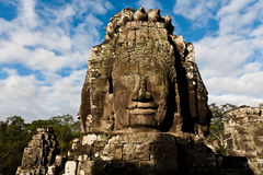 Famous head statues of Angkor Wat Royalty Free Stock Image