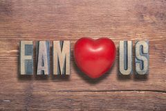 Famous heart wooden Royalty Free Stock Photo