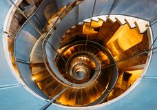 Famous helical staircase at the Lighthouse