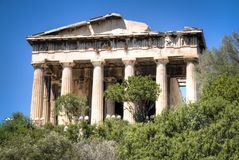 Hephaistos temple in Athens, Greece Royalty Free Stock Photography