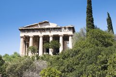 Hephaistos temple in Athens, Greece Stock Images