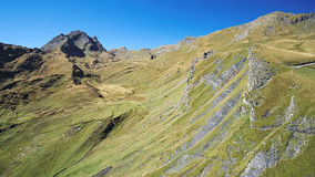 Famous hiking trail from First to Grindelwald (Bernese Alps, Switzerland). Stock Photography