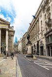 Famous historic building street in London, UK.  stock photography