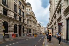Famous historic building street in London, UK. Architecture britain british city cityscape england english europe historical history kingdom landmark tourism royalty free stock photos